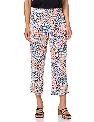 GERRY WEBER Edition Womens Easy Fit 7/8 Pants, Rot/Orange/Blau Druck, 48R