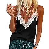 Blusas de Mujer Camisa de Manga Corta Arco con Cordones Polka Dot Tops Femeninos Jersey con Volantes S Style4-Black