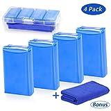 Tencoz 4Pack Argile de Nettoyage de Voiture, Barre d'argile de Voiture Bar Clay Kit de Nettoyage Voiture 400g Blue Kit Bar Clay avec Un Chiffon de Nettoyage en Microfibre