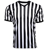 Murray Sporting Goods V-Neck Referee Shirt | Men's Official Short Sleeve Pro-Style V-Neck Officiating Referee Shirt for Basketball, Soccer, Wrestling & Volleyball (X-Large)