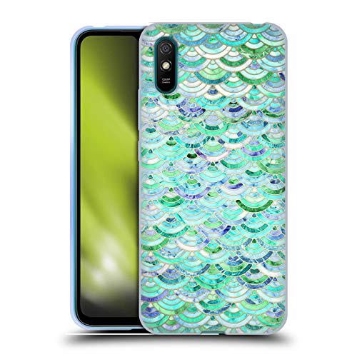 Head Case Designs Licenciado Oficialmente Micklyn Le Feuvre Mosaico en Cuarzo Menta y Jade Patrones de mármol Carcasa de Gel de Silicona Compatible con Xiaomi Redmi 9A / Redmi 9AT