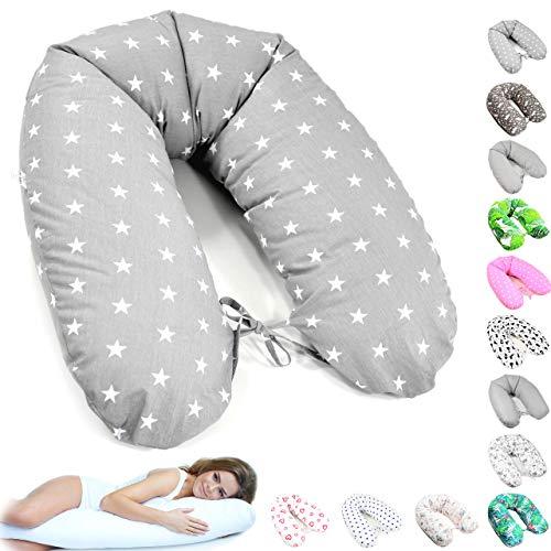 170cm XXL Stillkissen Schwangerschaftskissen Lagerungskissen Seitenschläferkissen 36 Farben Handmade 100% Zertifizierte Baumwolle Geräuschlos ekmTRADE (1)