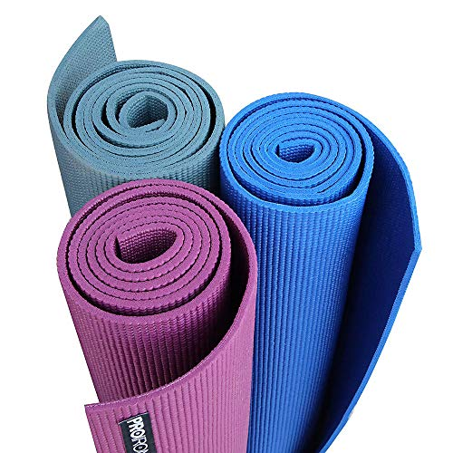 PROIRON Yoga Mat Exercise Mat with Free Travel Carry Bag for Home Gym Fitness 6mm thick in Blue