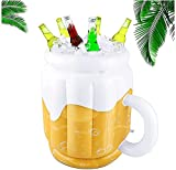 Cubo de cerveza inflable para fiestas de verano, enfriador de bebidas en forma de taza para piscina hawaiana, fiesta temática de playa, 51 x 30 cm