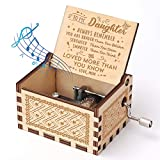 Officygnet Music Box Hand Crank Engraved Musical Box - You are My Sunshine Wooden Music Boxes Vintage Personalizable Gifts for Daughter from Mom - Perfect for Birthday/Christmas/Valentine's Day