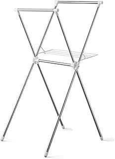 アイリスオーヤマ 洗濯物干し 室内物干し コンパクト収納 タオルハンガー付き 簡単組立 軽量 約2人用 幅約70×奥行約78×高さ約130cm ステンレス製 H-70XN