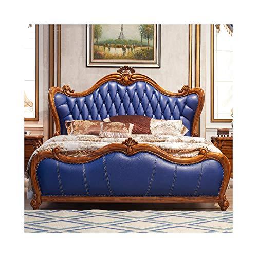 JTJxop Wood Platform Bed with He...