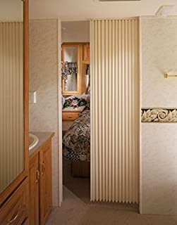 RV Trailer Camper Hardware Fabric Folding Door 24 X 75 Ivory