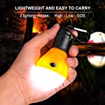 Camping Lights, Tent Lights with Carabiner Clips - Waterproof Portable Battery Operated Emergency Tent LED Light Bulb… 5