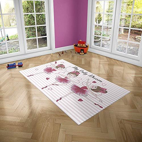 Oedim Alfombra Infantil Bailarinas para Habitaciones PVC   95 x 200 cm   Moqueta PVC   Suelo vinílico   Decoración del Hogar   Suelo Sintasol   Suelo de Protección Infantil  