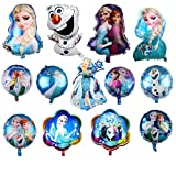 13 pack Frozen Party Balloon, Frozen Party Balloon Decorations For Children's Party Supplies