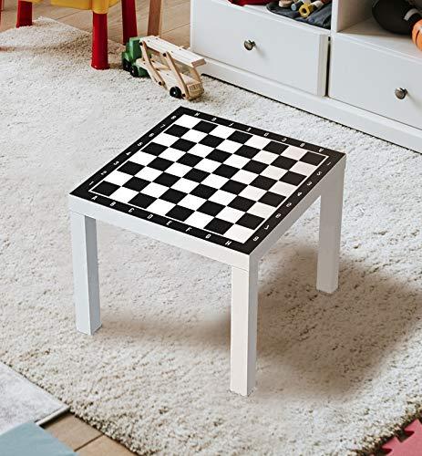 MyMaxxi | Aufklebefolie Möbelfolie Schach 01 Spielfolie für IKEA Lacktisch 55 x 55cm Stadtleben Aufkleber Sticker Kinderzimmer Spieltisch Brettspiele selbstklebend