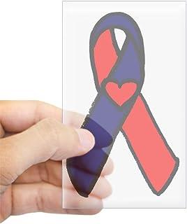 CafePress CHD Awareness Ribbon Rectangle Sticker Rectangle Bumper Sticker Car Decal