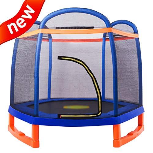 DXIUMZHP Trampoline Garten Im Freien Rebounder Indoor-Trampolin Für Kinder Sprungbett Mit Sicherheitsnetz Hochelastisches Trampolin Größe: 7 Fuß (Color : Blue, Size : 2.2 * 1.93m)