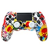 Protezione per Gamepad Soft Camouflage Guards Grip Cover + 2 Caps per controller PS4