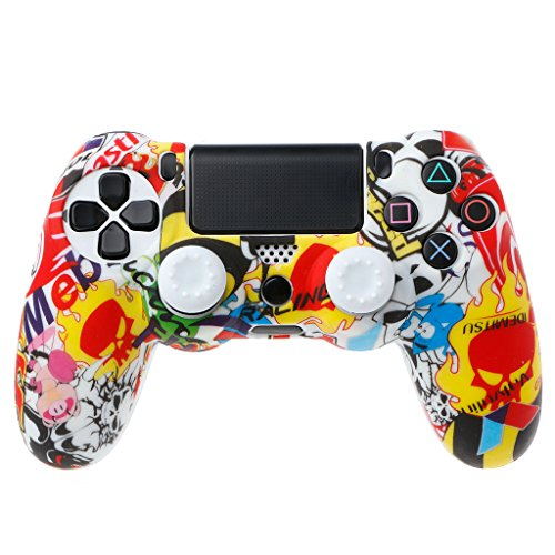 PENG Gamepad Schutz Soft Camouflage Guards Grip Cover + 2 Cap für PS4 Controller