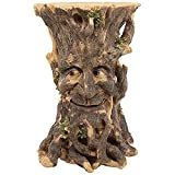 Design Toscano JQ12015 Craggy Bark Tree Ent Side Table, Woodtone Finish