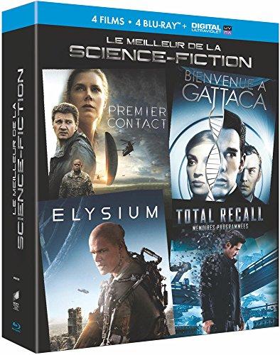 Le Meilleur De La Science-Fiction - Coffret : Premier Contact + Bienvenue À Gattaca + Elysium + Total Recall : Mémoires Programmées