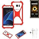 K-S-Trade® Mobile Phone Bumper + Earphones For Ruggear