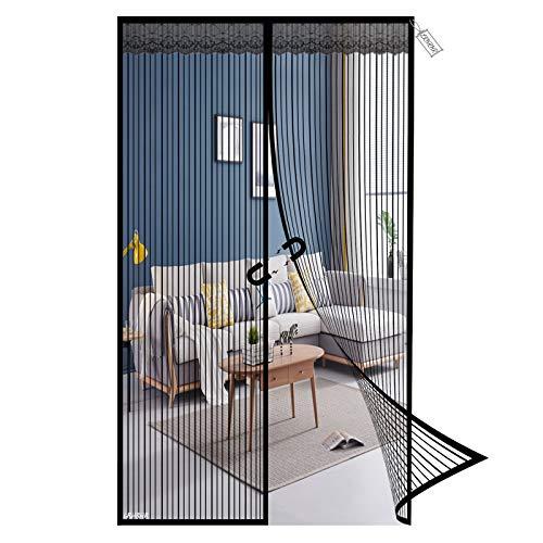 Mosquitera Puerta Magnética, 95x190cm Mosquitera Magnética Cortina Protección Contra Insectos, Manos Libres,...