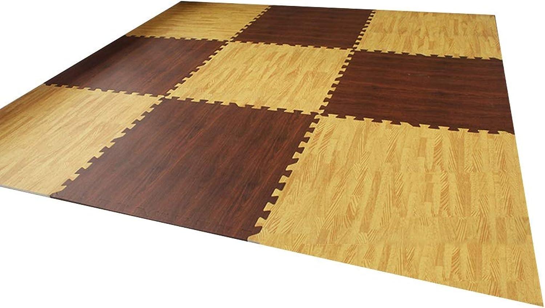 HLMIN 9 Stück Baby Krabbeln Matte Bodenplatten Kinderspielmatte Zum Schutz Weich Glatte Kanten Stabil (Farbe   B, gre   180cmx180cmx1.9cm)