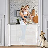 Retractable Baby Gate 60' Indoor Mesh Safety Dog Gate for Stairs Outdoor Pet Gate