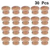 Yardwe 30 Pezzi Pomelli per cassetti Legno pomelli per mobili per armadi e cassetti manopole con Viti (Forma a Fungo)