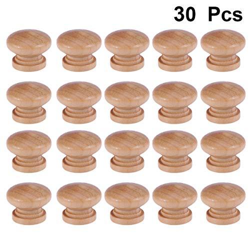 Yardwe 30 Stück Schubladenknauf Holz Möbelknopf Möbelknopf Möbelknopf Möbelknöpfe Schrankknöpfe Schrankschrauben (Form ungo)