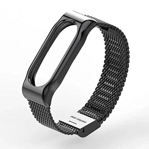 VAN-LUCKY Fascia Polso Ricambio Braccialetto Fascia per Xiaomi Miband 2 Metal Smart Bracciale (No Tracker)