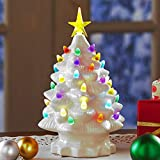 The Lakeside Collection Retro Ceramic Tabletop Christmas Tree - Holiday Centerpiece -...