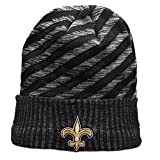 Winter Wool Knit Hat, Thick Sports Beanie Features Raised Embroidered Logo, Skully Hat for NFL New Orleans Saints Fans, Men or Women