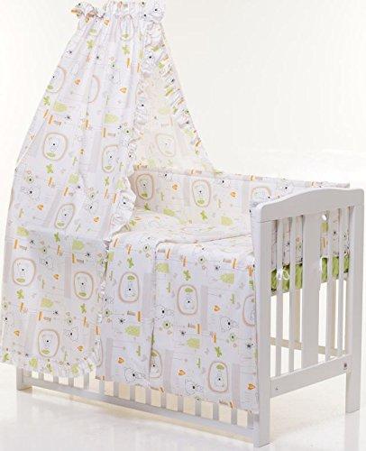 6-teiliges Bett-Set für ein Baby Bett 60x 120cm (Jacadi natur)