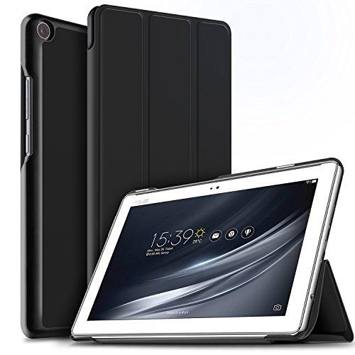 IVSO Asus Z301M / Z301ML / Z301MF / Z301MFL Hülle, Ultra Schlank Ständer Slim Leder zubehör Schutzhülle ideal geeignet für Asus ZenPad 10 Z301M / Z301ML / Z301MF / Z301MFL Tablet PC, Schwarz