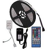 XUNATA 12V Tiras LED RGBW 5050 SMD 300 LEDs Para TV Tira de Luces LED Kit Completo con control remoto de 40 teclas (Impermeable...