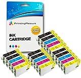 20 Compatibili 16XL Cartucce d'inchiostro per Epson Workforce WF-2010W WF-2510WF WF-2520NF WF-2530WF WF-2540WF WF-2630WF WF-2650DWF WF-2660DWF WF-2750DWF - Nero/Ciano/Magenta/Giallo, Alta Capacità
