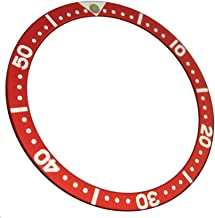 Red Replacement Bezel Insert for 7S26 Scuba Diver SKX 007 009 Parts Heritage Black Bay Look