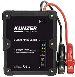 KUNZER (CSC 12) Wartungsfreie Starthilfe 12V mit Ultrakondensatortechnik – Batterielos betriebenes Batterie Startgerät