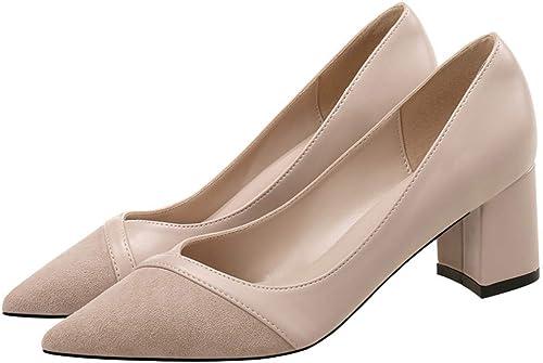 AJUNR Femmes Loisirs Le Printemps 6 Cm des Chaussures à Talons Haut Femme Petit Frais Baitie