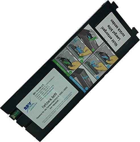 BBV-Domke Refill-Farbtank passend für Quadient (ehem. Neopost) IS-5000, IS-6000 (220ml, blau) Frankierfarbe, wiederbefüllter Originaltank, kein Nachbau
