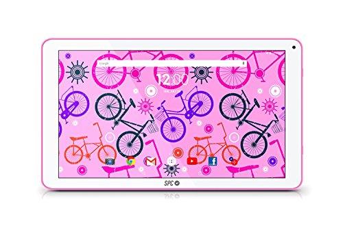 """SPC Glee - Tableta de 10.1"""" Quad Core Cortex A7, memoria interna 8 GB, 1 GB de RAM, Android 6.0, rosa"""