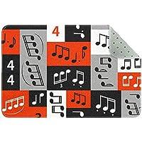 エリアラグ軽量 音符(4) フロアマットソフトカーペットチホームリビングダイニングルームベッドルーム