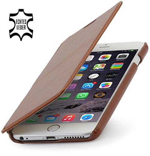StilGut Leder-Hülle kompatibel mit iPhone 6s Plus Book Type, Cognac
