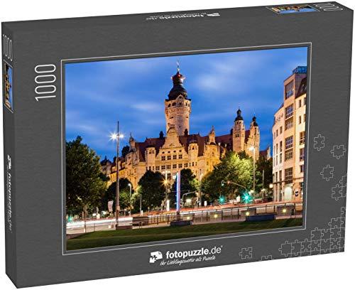 Puzzle 1000 Teile Neues Rathaus Leipzig - Klassische Puzzle, 1000 / 200 / 2000 Teile, edle Motiv-Schachtel, Fotopuzzle-Kollektion 'Deutschland'
