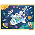 48 Piece Puzzles for Kids Ages 4-8 - Rocket Wooden Jigsaw Puzzles for Toddlers 4 Year Old