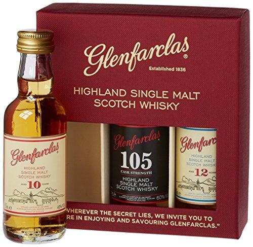 Glenfarclas Miniset (10 YO, 12 YO, 105) 47,7% Vol. 3x0,05 l + GB