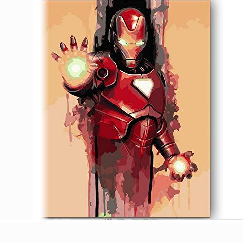 Amrzxz DIY-Robot DIY Pintura por números, DIY Pintura al óleo Digital sobre Lienzo Regalo(sin Marco) 40x60cm