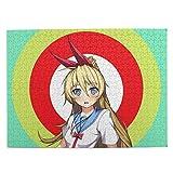 Da Shu Nisekoi Kirisaki Chitoge Blue Eyes School Uniform Puzzle 500-Piece Wooden Puzzle for Children and Adults