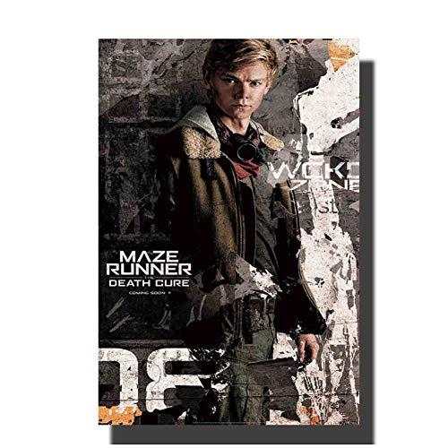 Doolhof Runner De dood Cure Film 4 Art Schilderen Poster Print Decoratie Kamer Muurfoto Print op Canvas -60x80cm Geen Frame