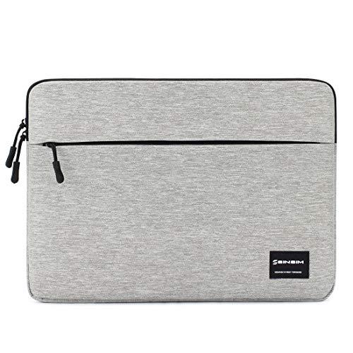 SINSIM - Funda impermeable para portátil de 13/14/15,6 pulgadas, funda con bolsillo para accesorios, gris oscuro gris 15-15.6 Zoll