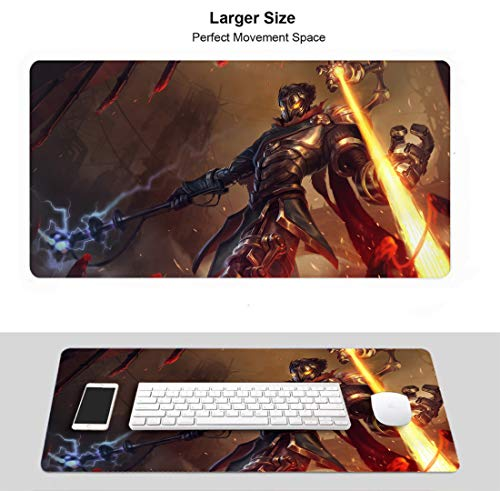 Extended Size Professional Gaming Mouse Pad for League Legends, Stitched Edges Ultra Thick 3Mm (Viktor)